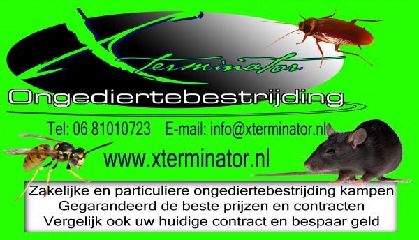 advertentie Xterminator ongediertebestrijding